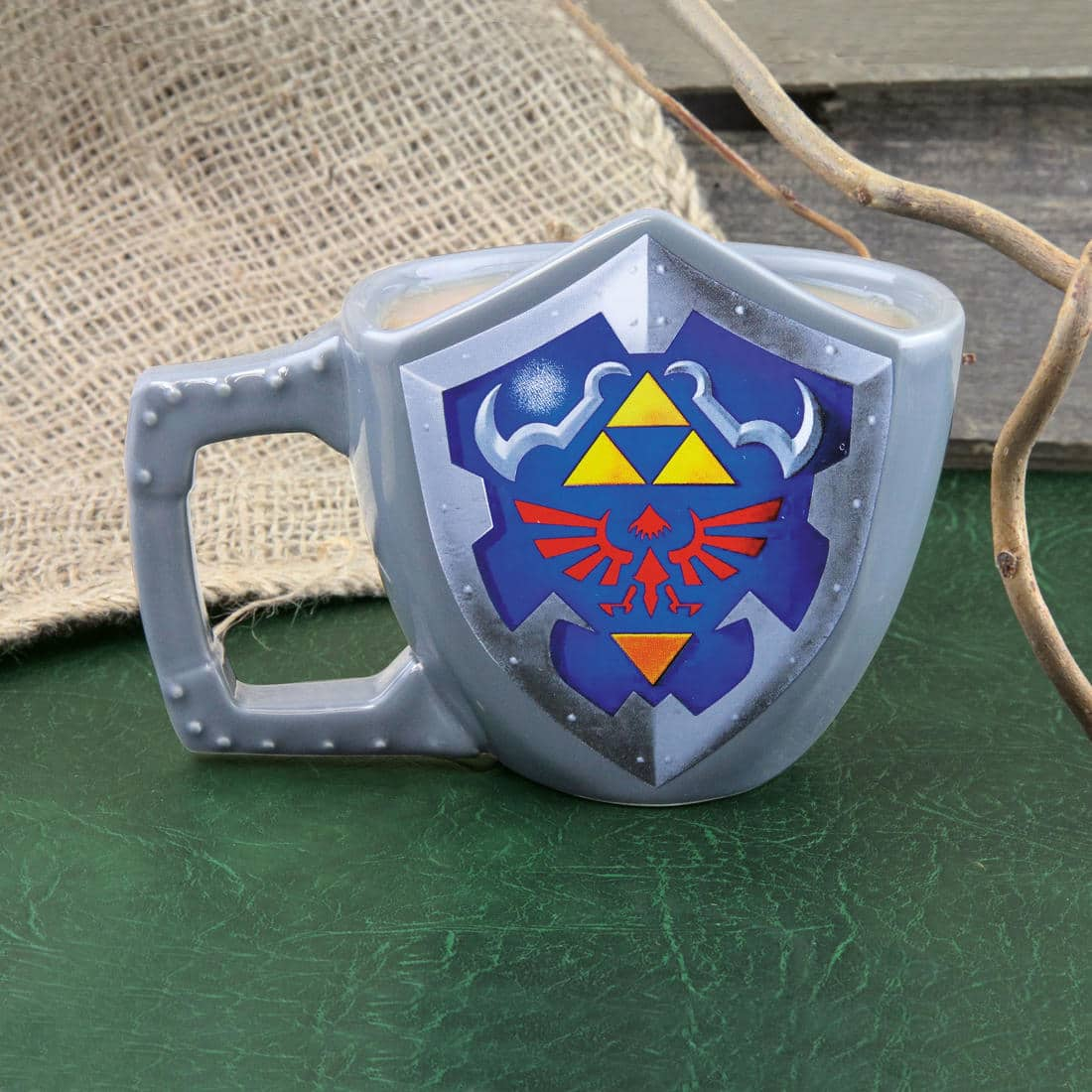 The Legend of Zelda: Links Schild als Kaffeetasse