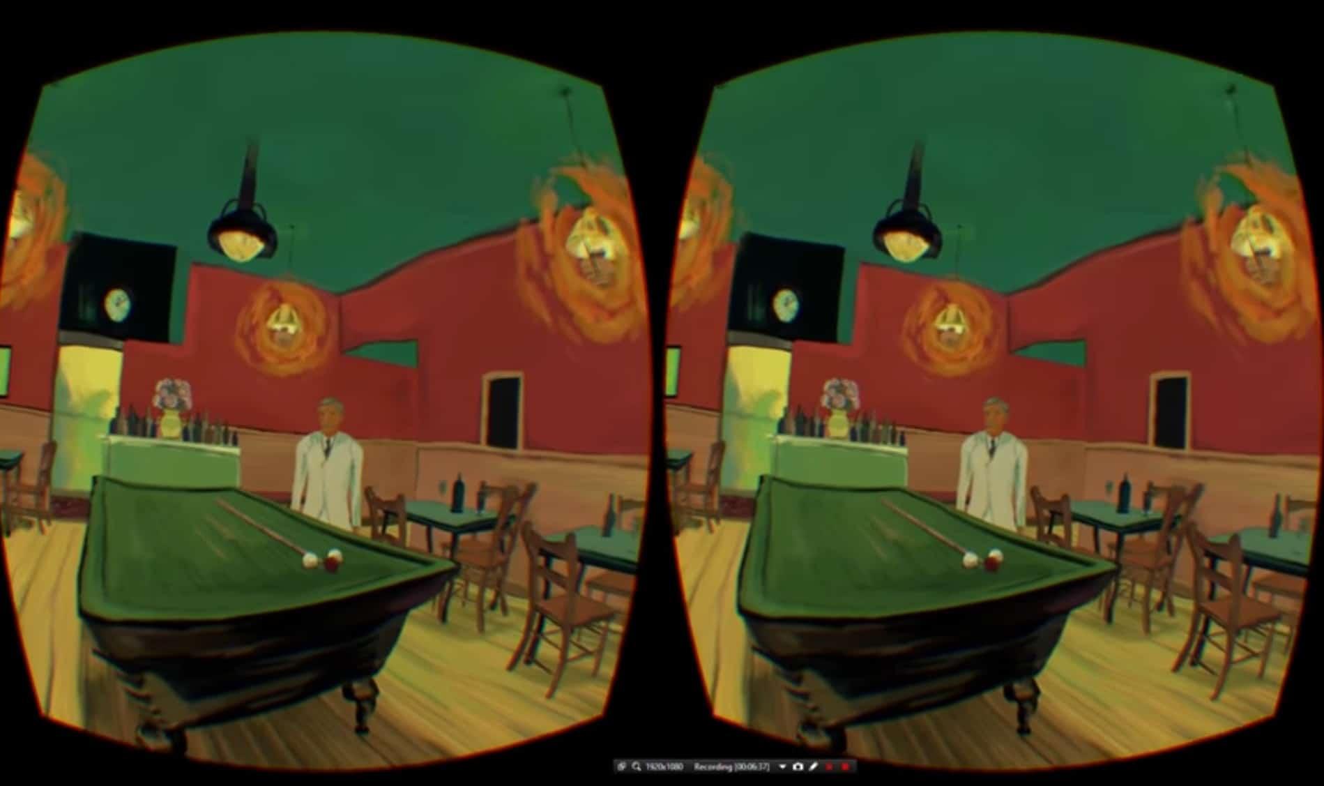 Night Café auch mit PSVR genießen? Cool. (Foto: Screenshot)