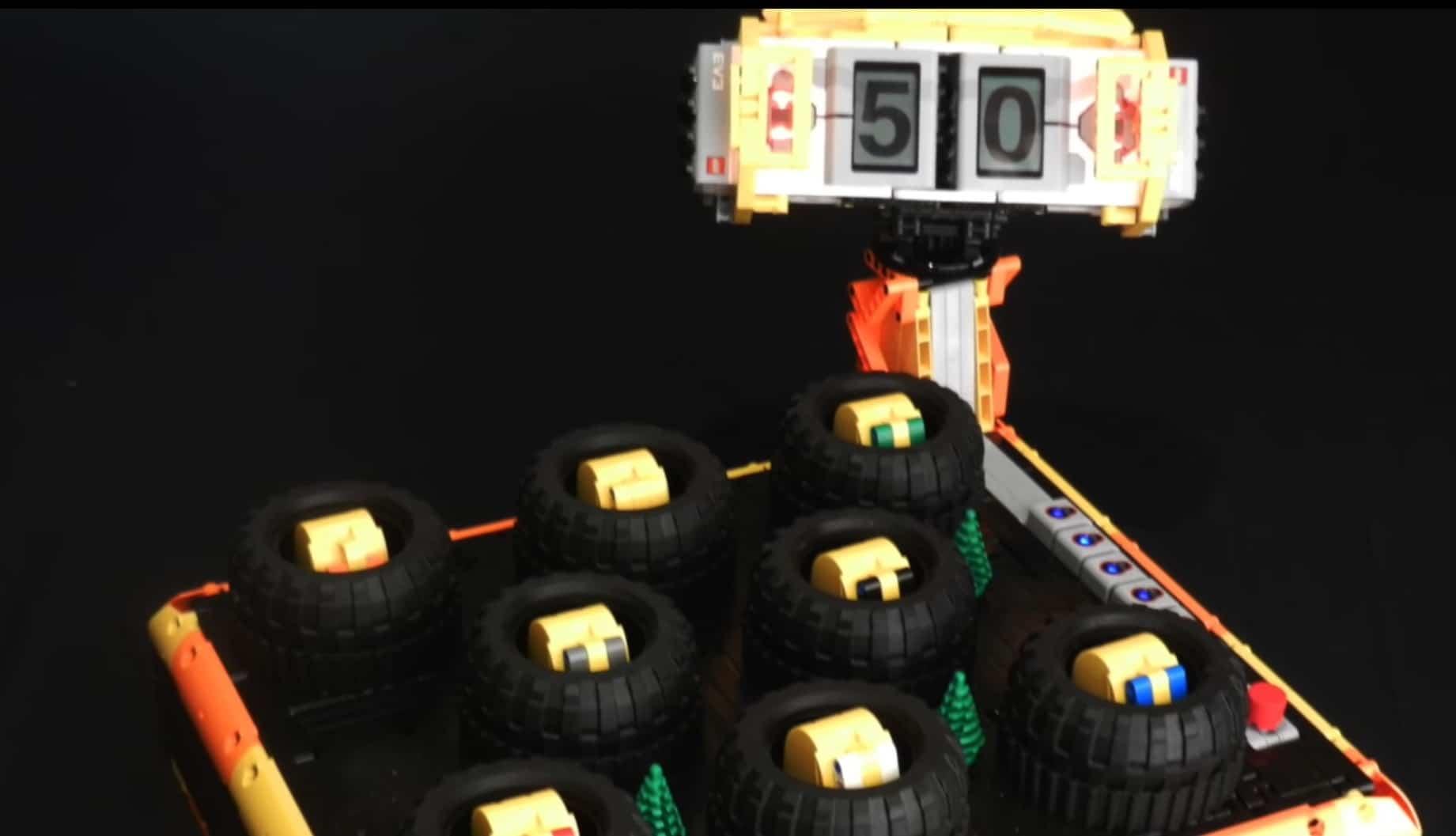 Lustiges Brettspiel mit LEGO gebaut. (Foto: Screenshot / YouTube)