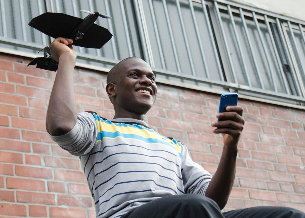 Werfen und mit dem Smartphone steuern. (Foto: TobyRich)