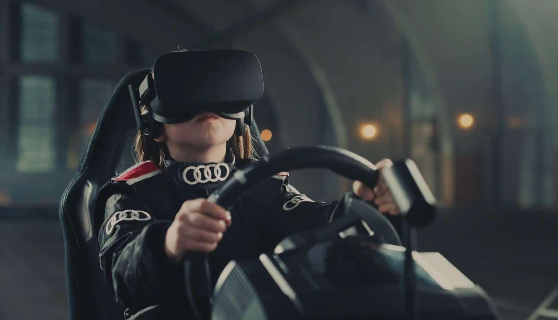 Mit Oculus Rift und Sensoren in die Sandkiste. (Foto: Audi Norwegen)