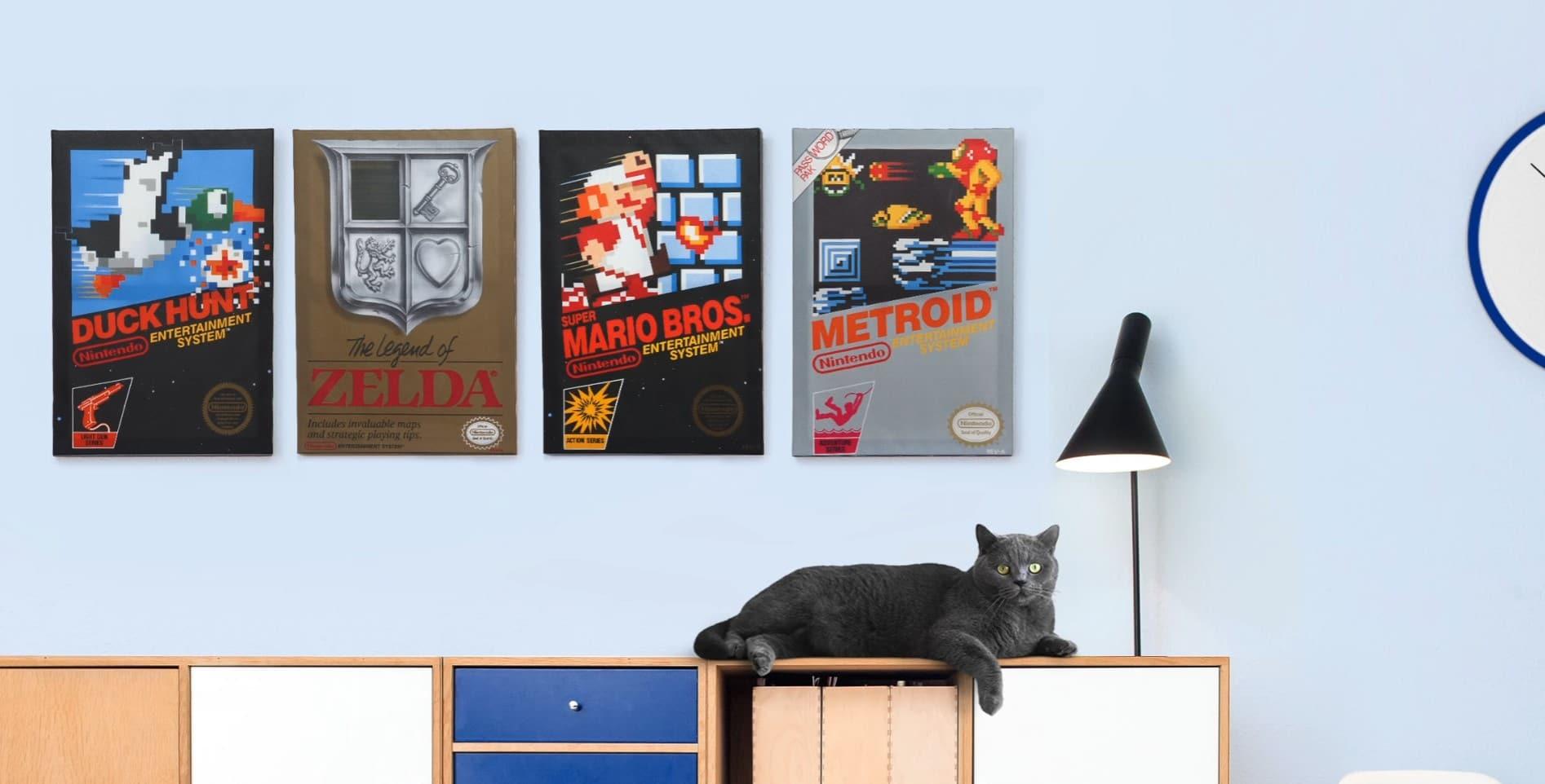 Die Katze findet die Poster auch gut. (Foto: ThinkGeek)