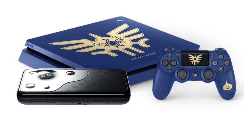 New 2DS XL und PS4 im Dragon Quest-Design. (Foto: GamingGadgets.de / Sony / Nintendo)