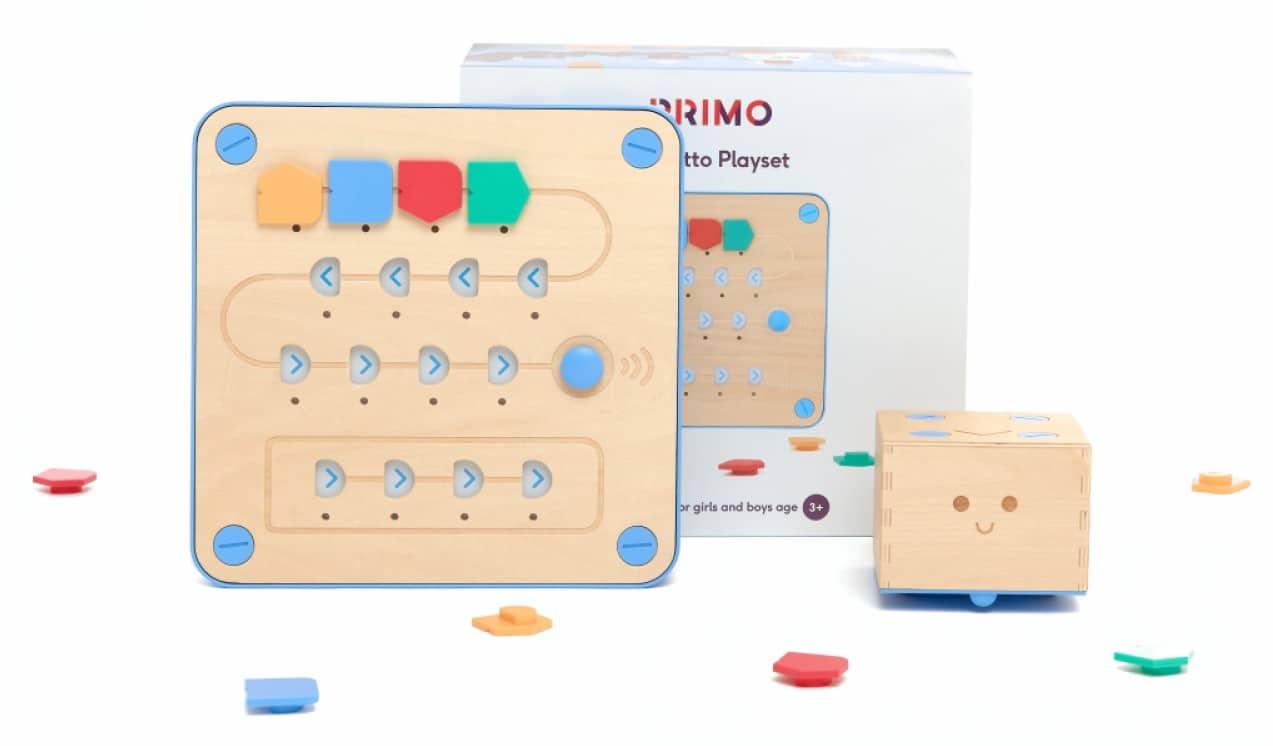 Ein kleiner Roboter möchte Kids das Programmieren beibringen. (Foto: Primo Toys)