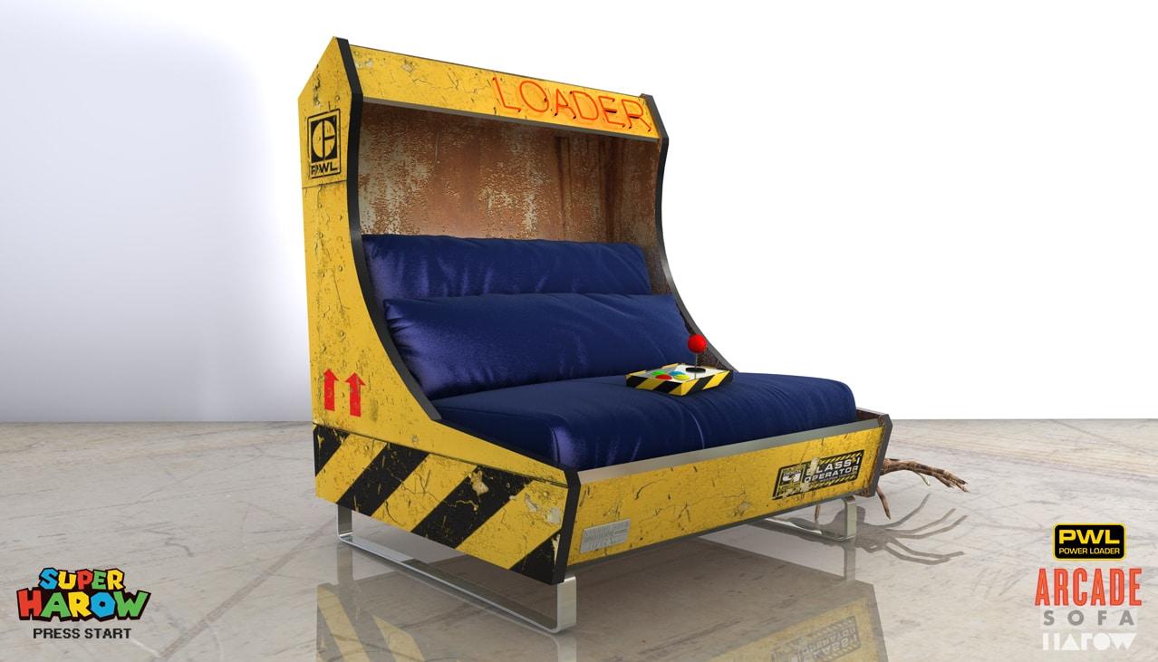 Arcade Sofa: Auf dieser Couch macht das Zocken besonders viel Spaß