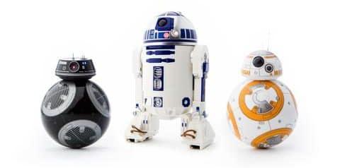R2-D2 und BB-9E sind neu. (Foto: Orbotix)