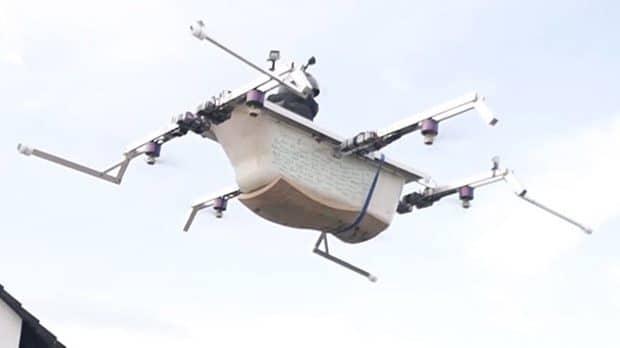 Wow! Eine fliegende Badewanne! (Foto: Screenshot / YouTube)