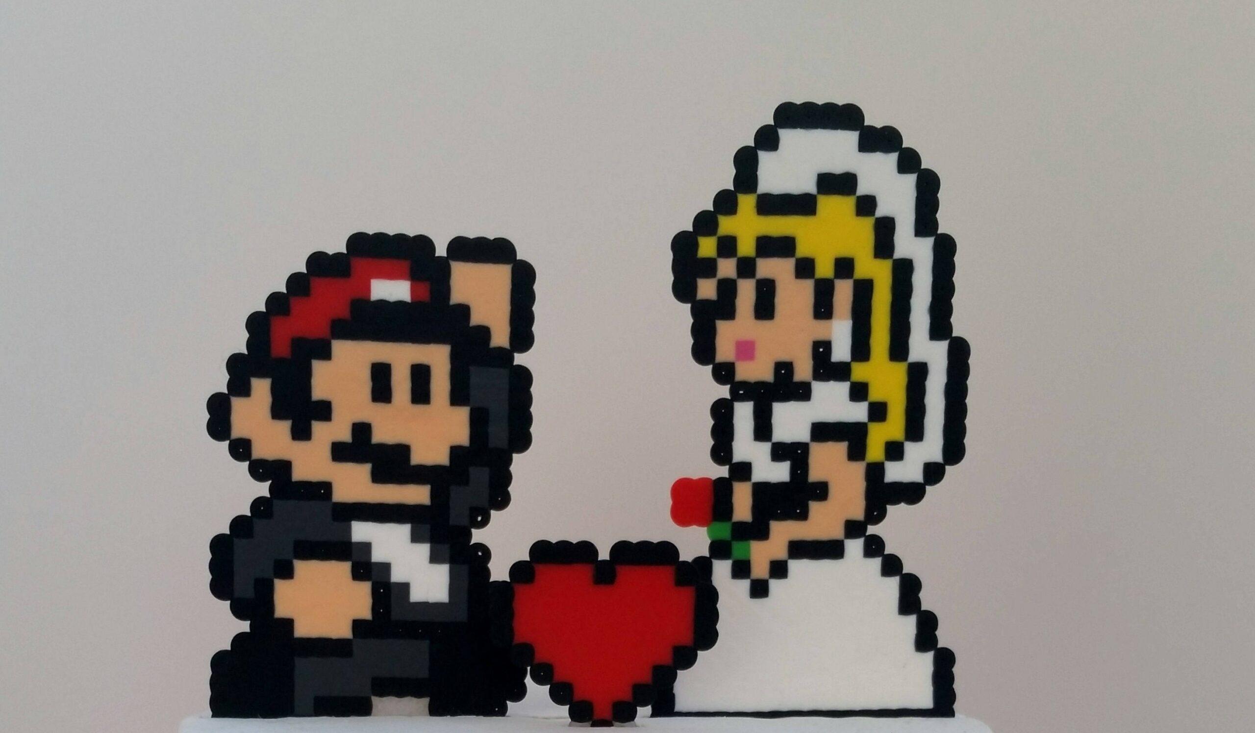 Super Mario Cake Toppers: Pixel-Helden für die (Hochzeits-)Torte