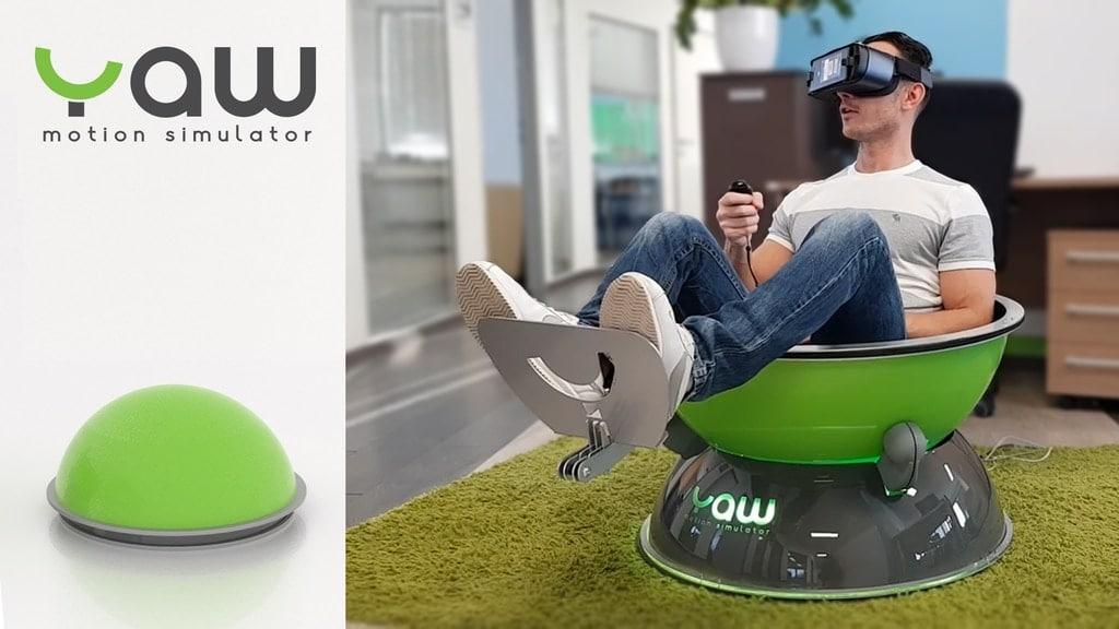 Der Yaw Motion Simulator sieht ja kurios aus. (Foto: Intellisense)