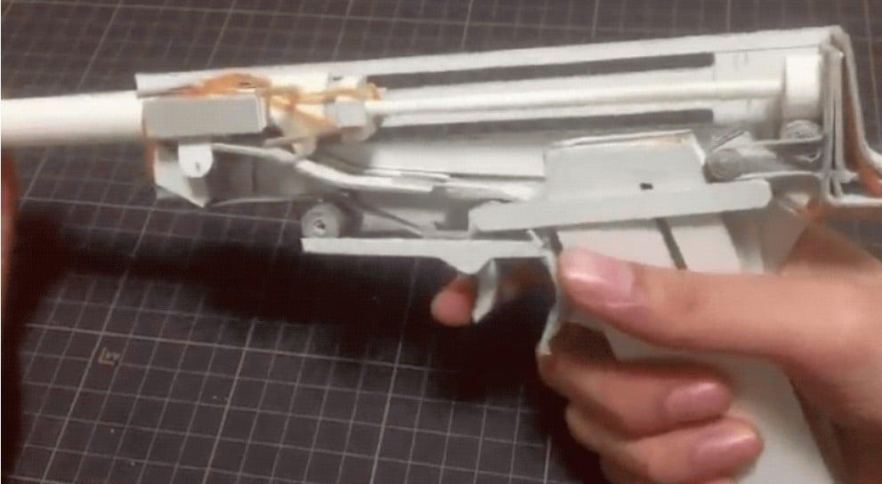 So sieht die Waffe von innen aus. (Foto: Haruki)