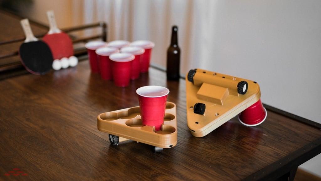 Bier Pong spielt man neuerdings mit einem Roboter. (Foto: Labruutories, LLC)