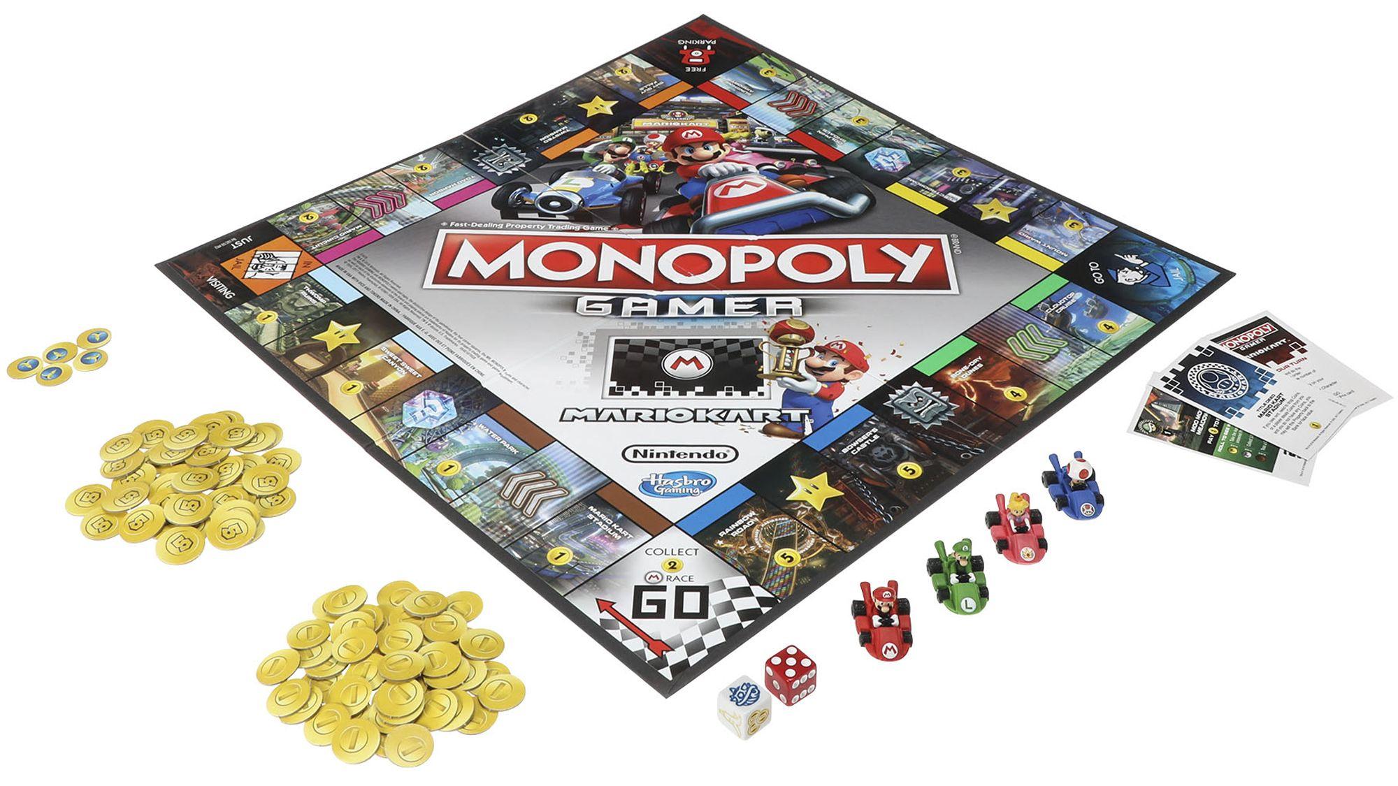 Mario Kart als Monopoly. Was für echte Gamer? (Foto: Hasbro)