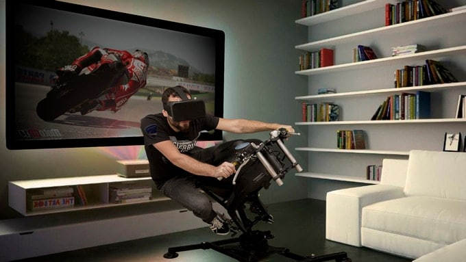 leangp motorrad simulator f r die wohnung. Black Bedroom Furniture Sets. Home Design Ideas