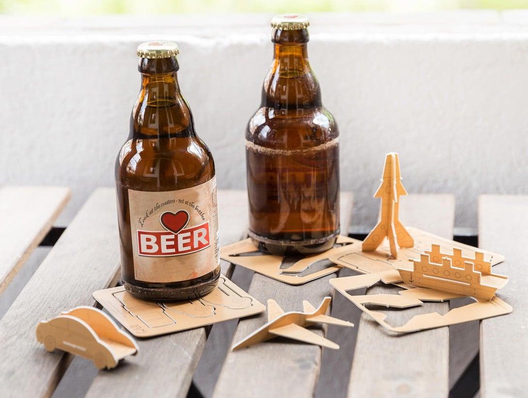 Modellbau-Bierdeckel: Saufen und dabei Spielzeug basteln