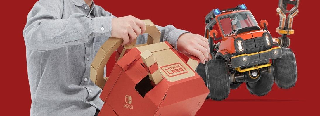 Nintendo Labo: Mit dem Toy-Con 3 Fahrzeug-Set auf die Straße
