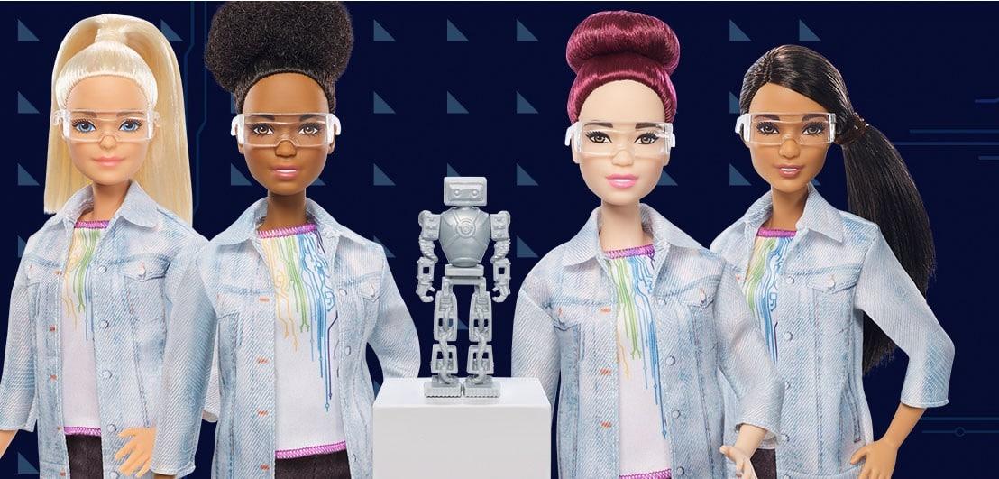 Hippe Frauen bauen Roboter. (Foto: Mattel)