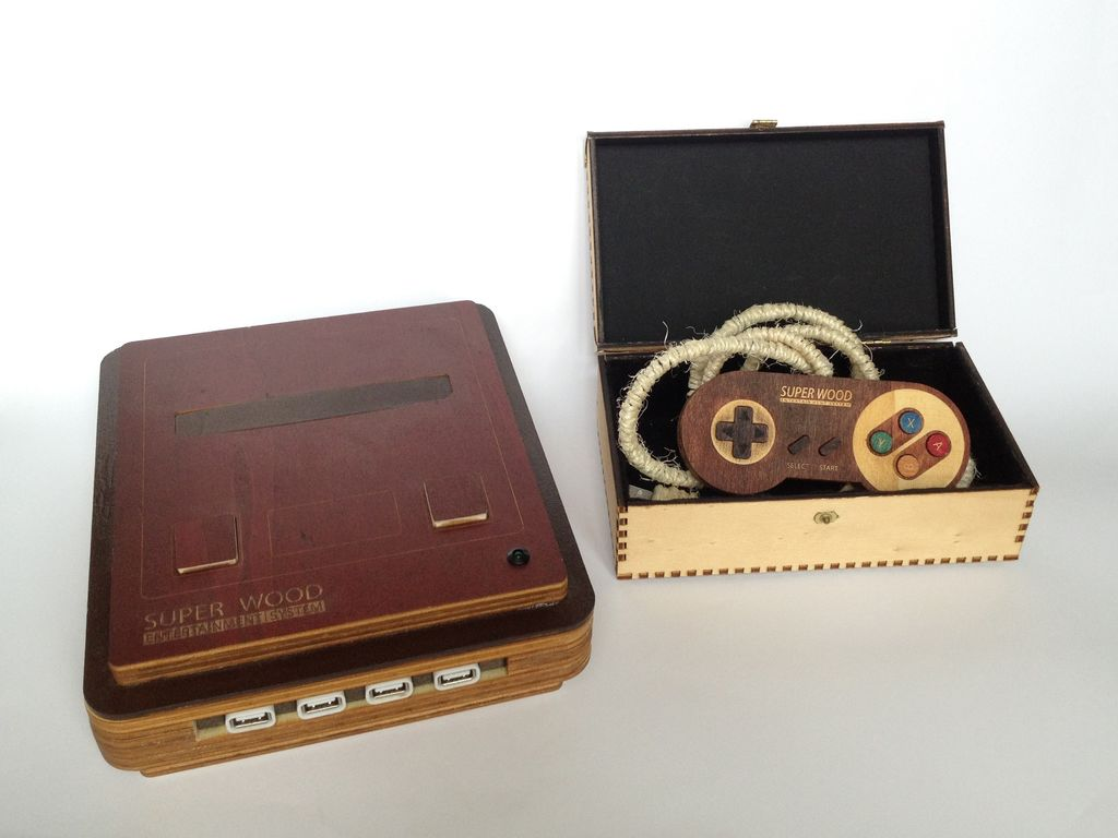 Super Wood Entertainment System: Retro-Spielkonsole aus Holz