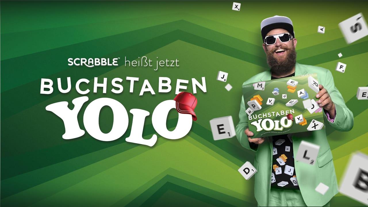 Buchstaben YOLO: Scrabble für die junge Generation