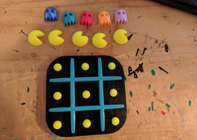Pac-Man Tic-Tac-Toe: Brettspiel-Spaß aus dem 3D-Drucker