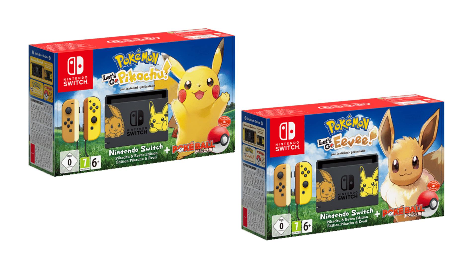 Nintendo Switch: Bundles als Pikachu- & Evoli-Edition