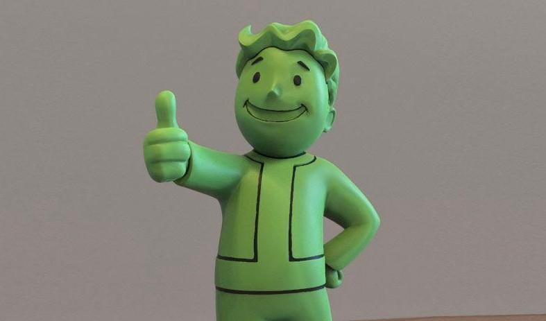 Daumen hoch... für die Fallout 76 Vault-Boy-Lampe. (Foto: Geekstore)