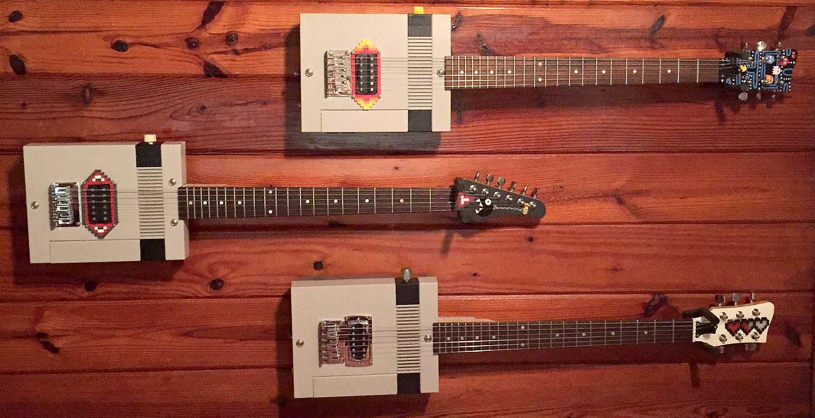 NES-Konsolen als E-Gitarren. (Foto: Guitendo)