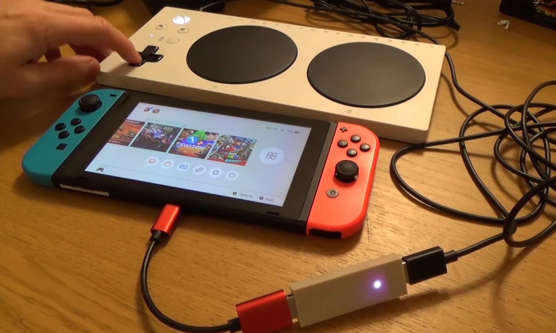 Der Xbox Adaptive Controller läuft mit einem Trick auch an der Nintendo Switch. (Foto: Screenshot)