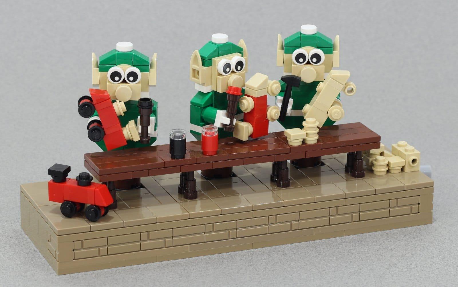 LEGO Weihnachtselfen: Bastelt euch diesen lustigen Deko-Spaß!