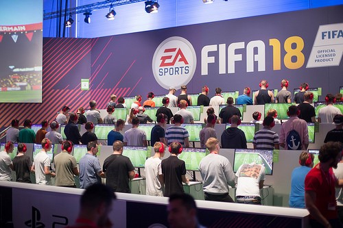 FIFA 18 Gaming-Bühne. (Foto: Marco Verch)