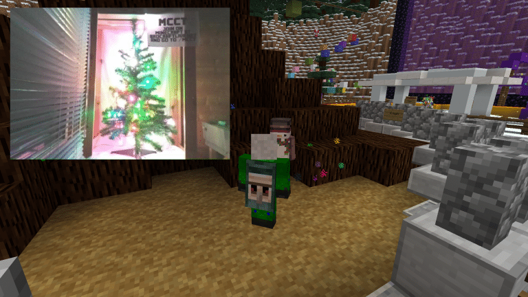 Links zu sehen - der echte Baum in Minecraft. (Foto: BroCraft Gaming)