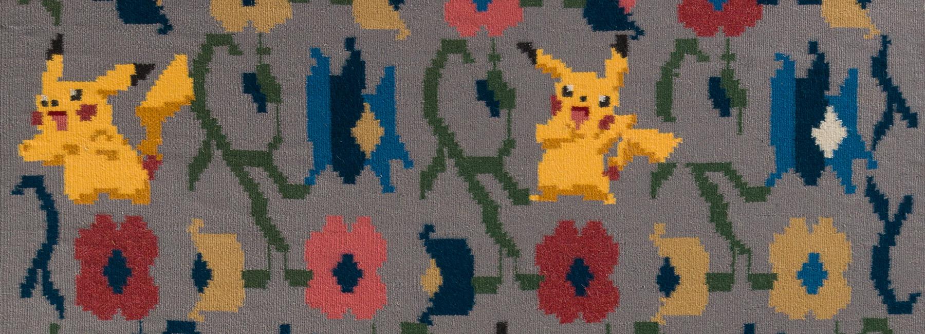 Erkennt ihr ihn? Das ist ein lustiger Pokémon-Teppich! (Foto: Olk Manufactory)