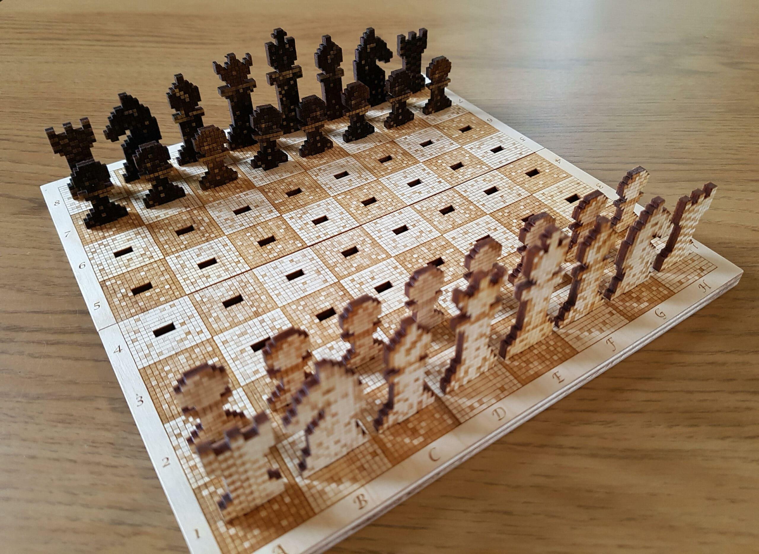 Das ist mal ein ungewöhnliches Schachspiel. (Foto: Etsy)