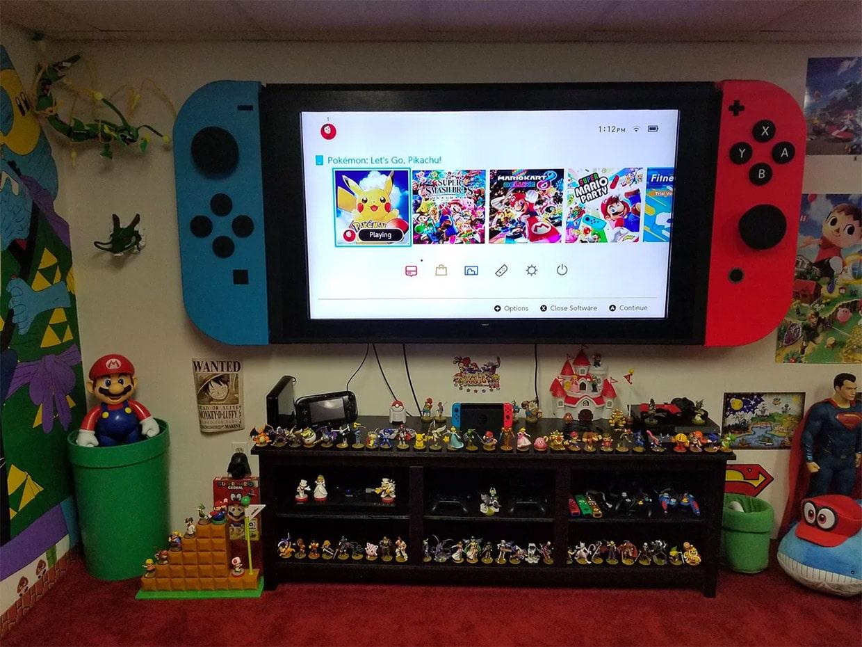 Nintendo Switch XXL: Gewaltige Konsole fürs Spielzimmer