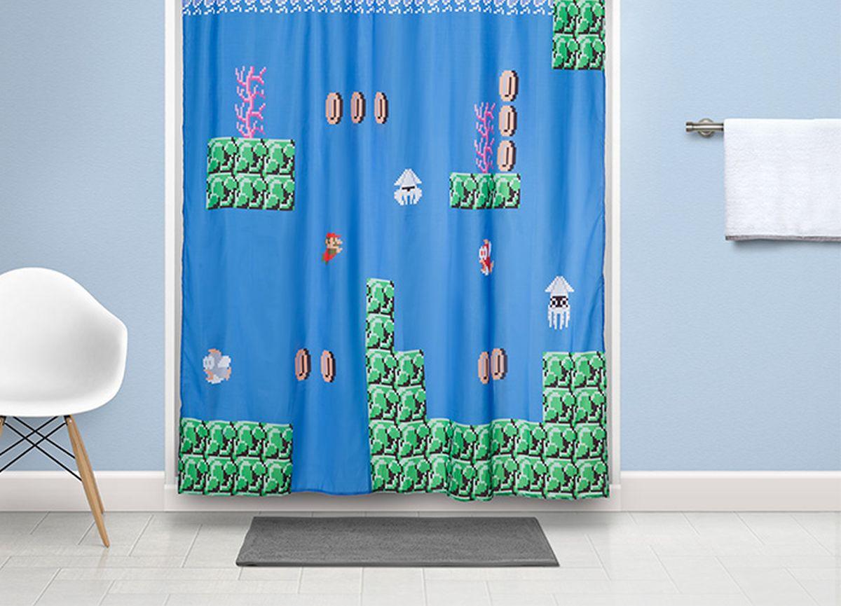 Ein schöner Mario-Duschvorhang. (Foto: ThinkGeek)