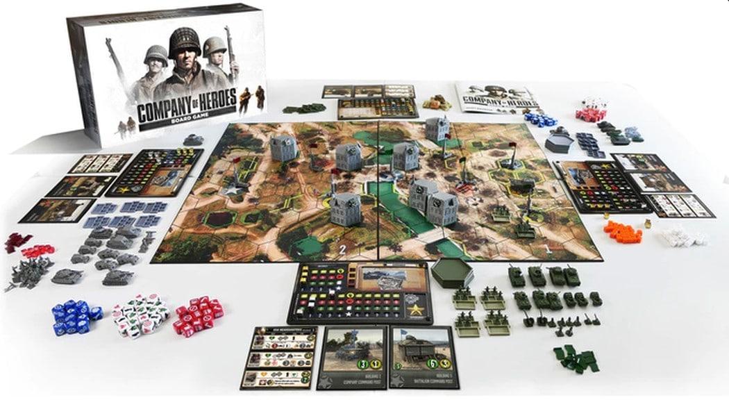 Das Company of Heroes Brettspiel sieht sehr umfangreich aus. (Foto: Kickstarter)