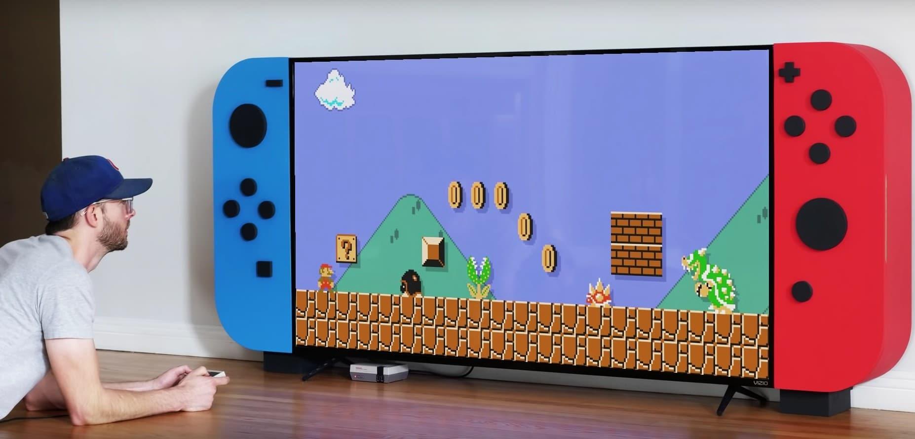 Was für eine riesige Nintendo Switch. (Foto: Screenshot)