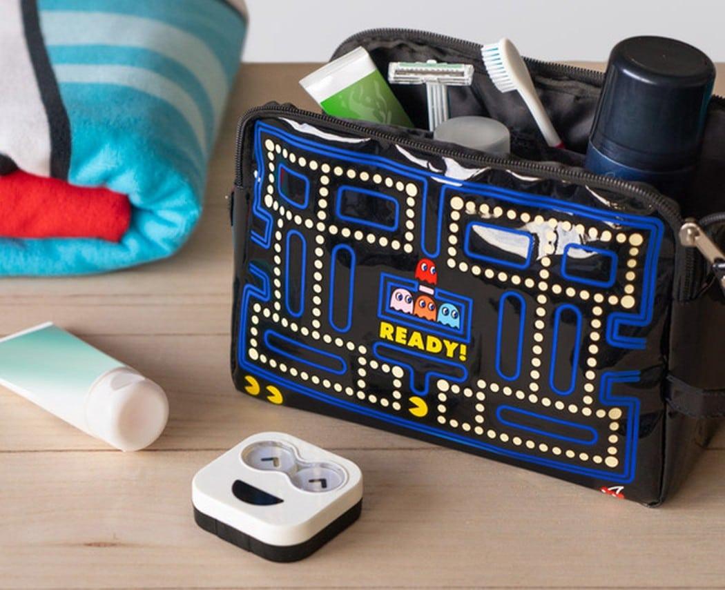 Eine Pac-Man-Kulturtasche? Ja, so etwas gibt es! (Foto: Balvi)