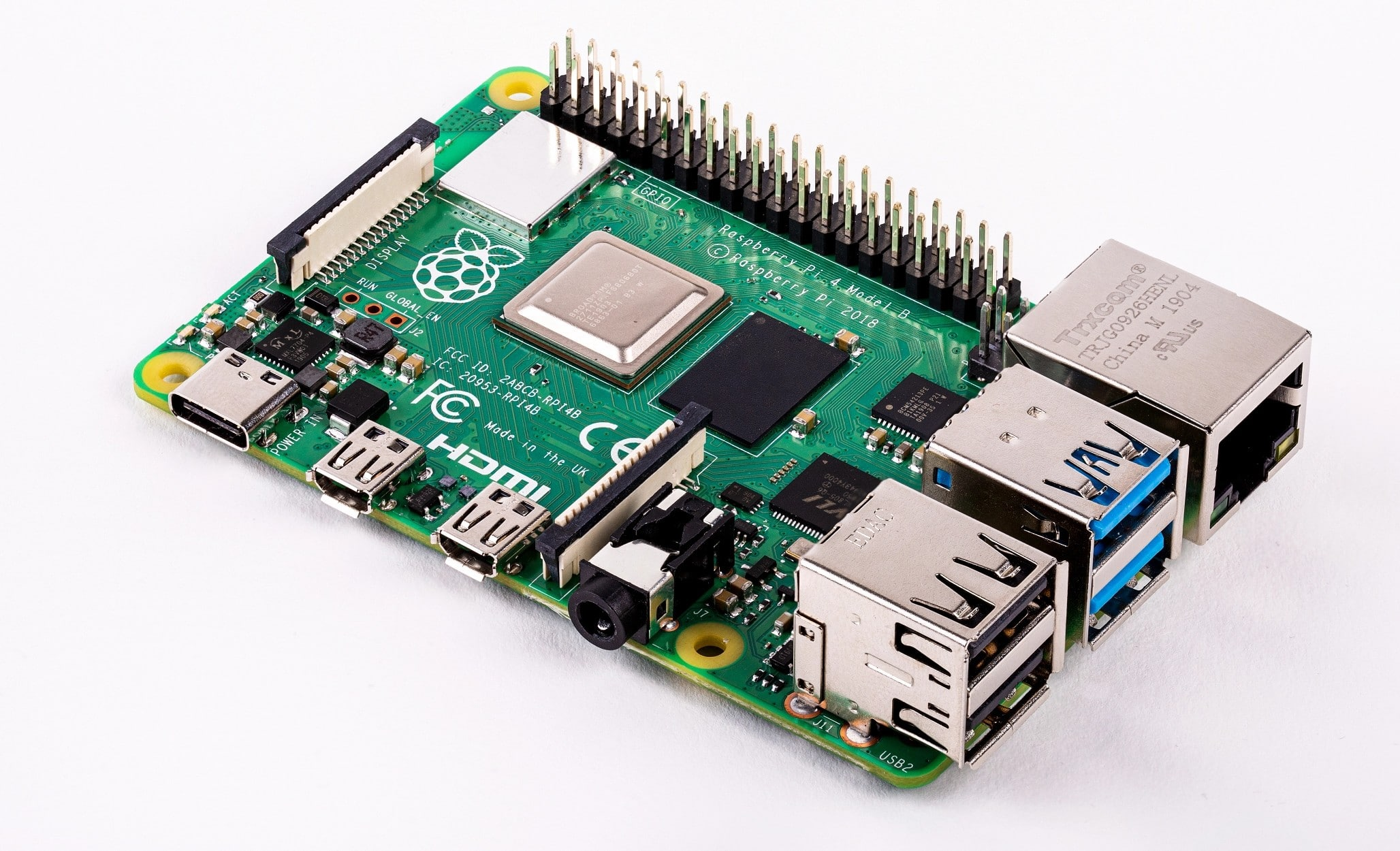 Der Raspberry Pi 4 - jede Menge Power. (Foto: Raspberry Pi Foundation)