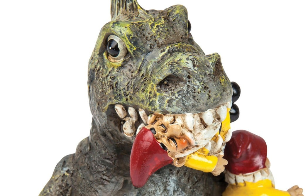 Nerdige Gartenzwerge: Godzilla und Einhorn für den Vorgarten