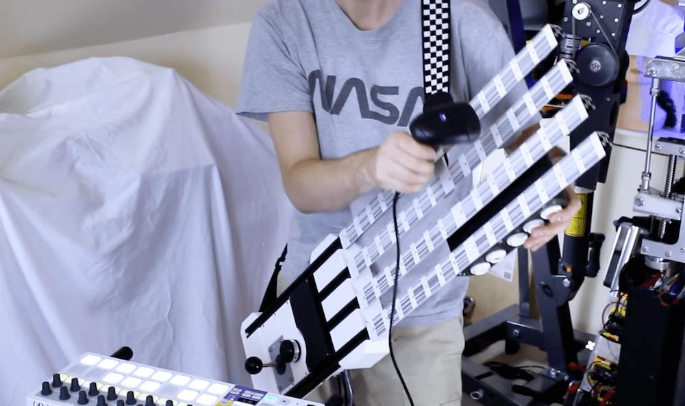 DIY Barcode-Gitarre: Abgefahrene Gitarre mit Barcode-Scanner