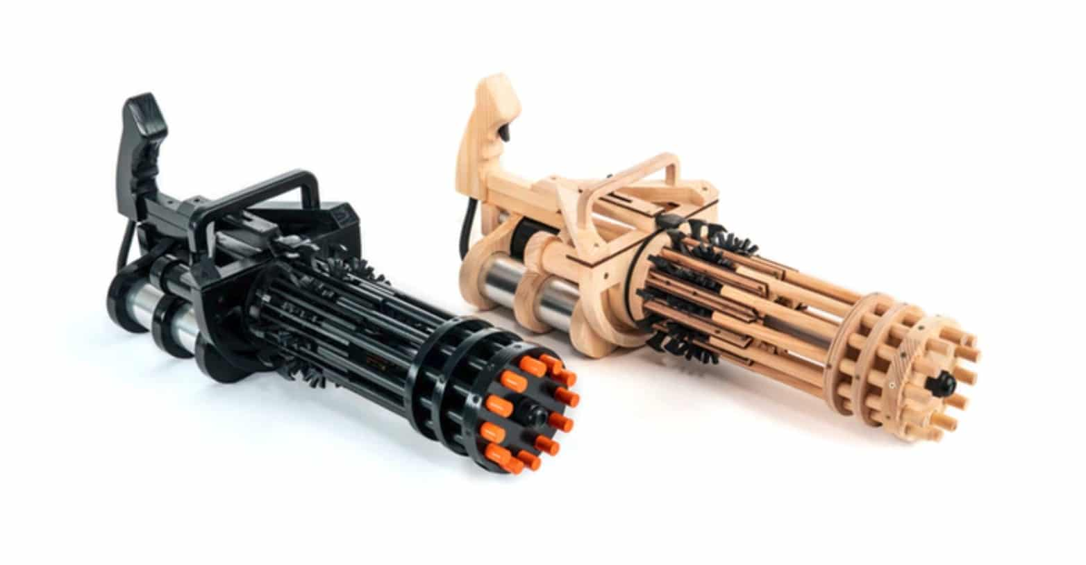 Rubber Band Minigun: Martialische Wumme fürs Büro