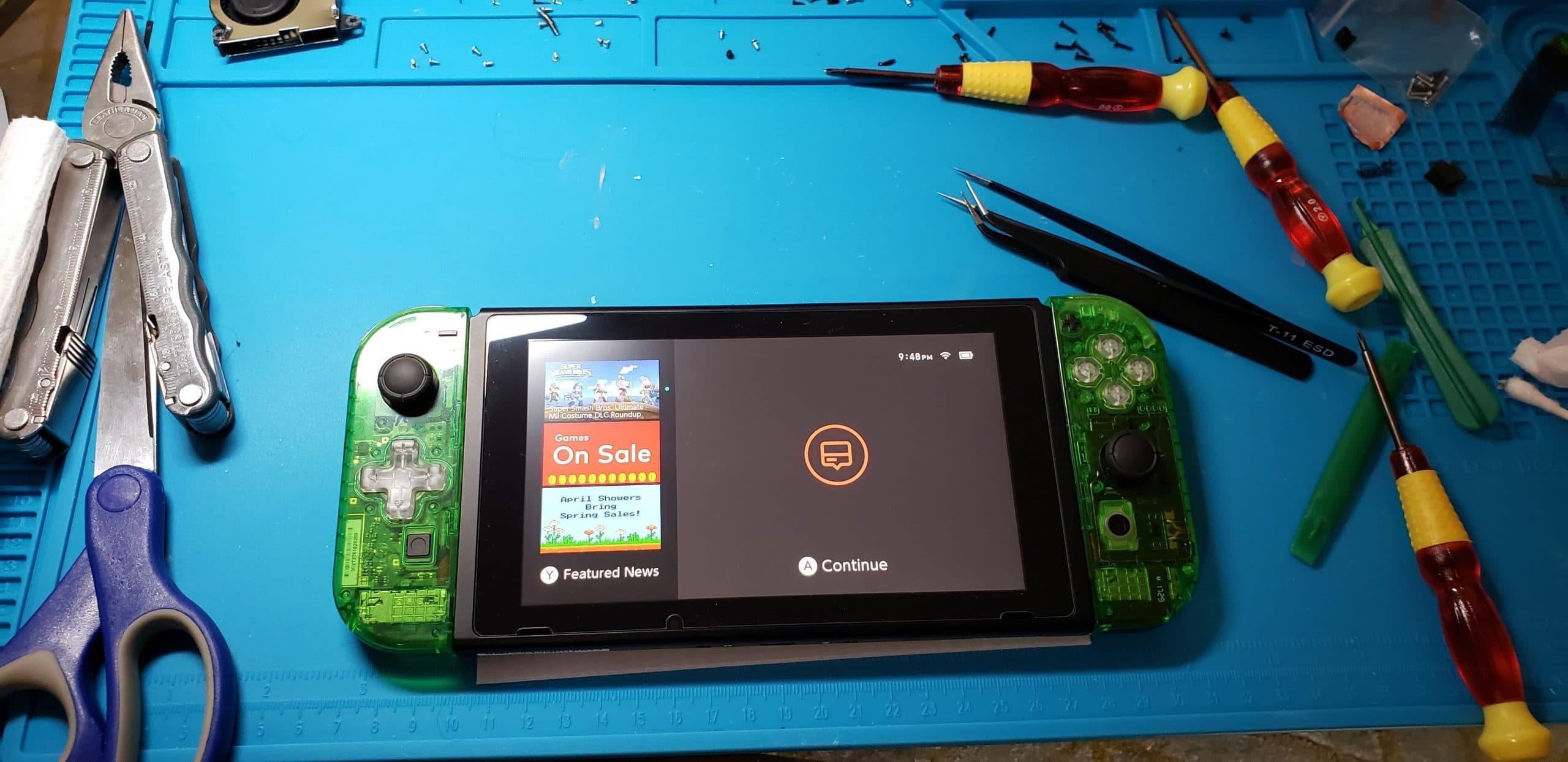 Diese Nintendo Switch entstand im Eigenbau. (Foto: imgur)