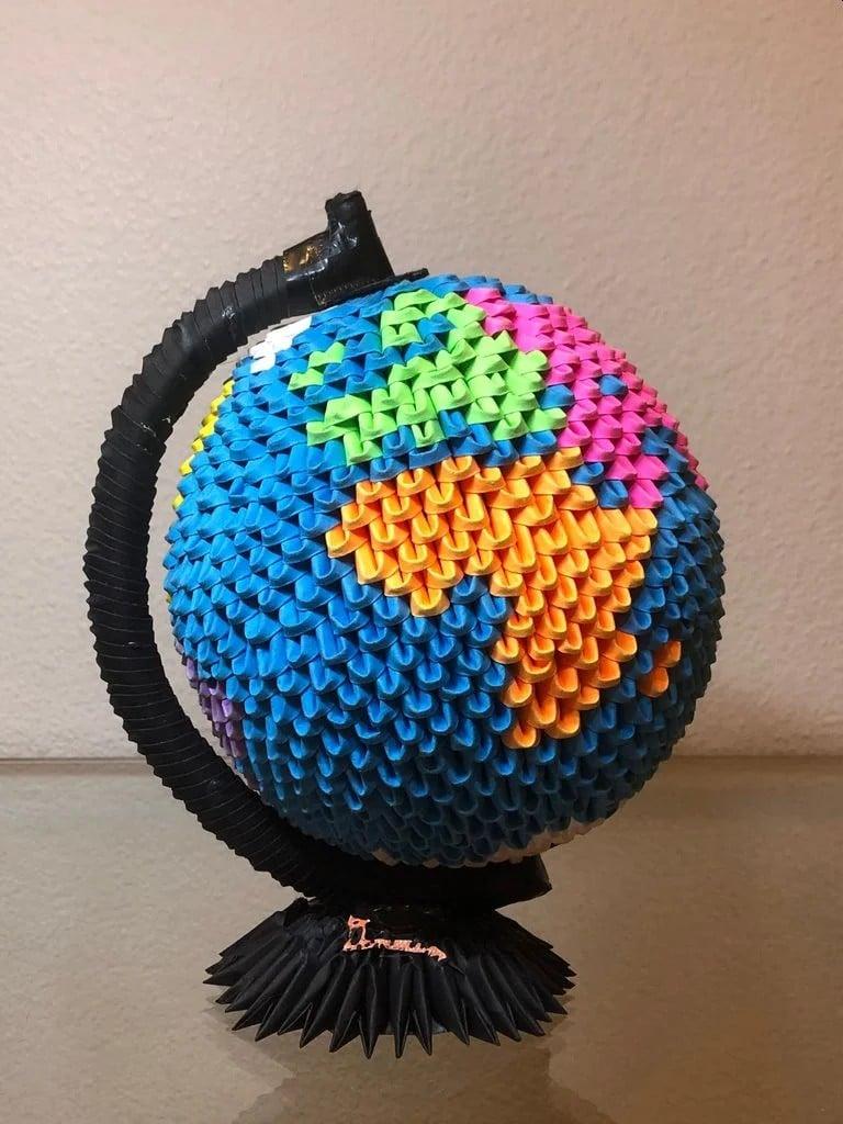 Origami Globus: Faltet euch eine Erde
