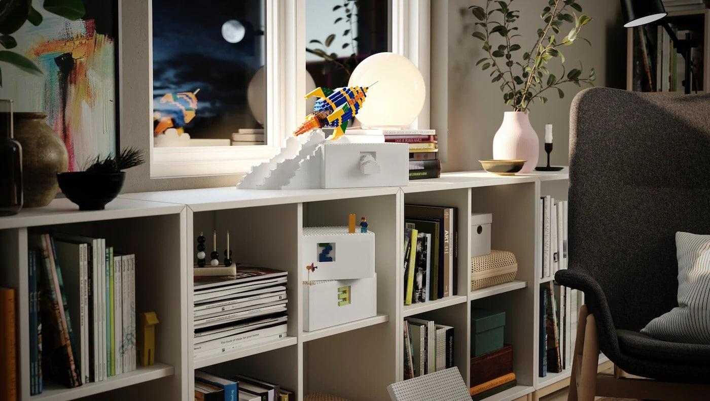 Aufbewahren und Spielen - IKEA Bygglek macht es möglich. (Foto: IKEA)