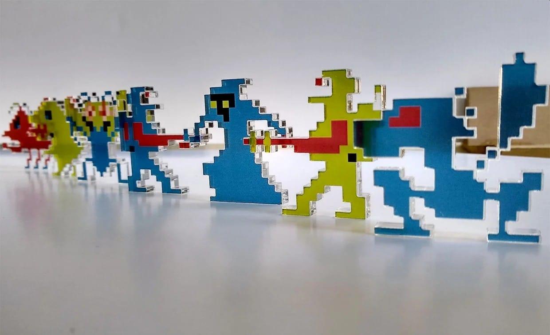 Plexiglas Sprites: Pixel-Deko für die nächste Party