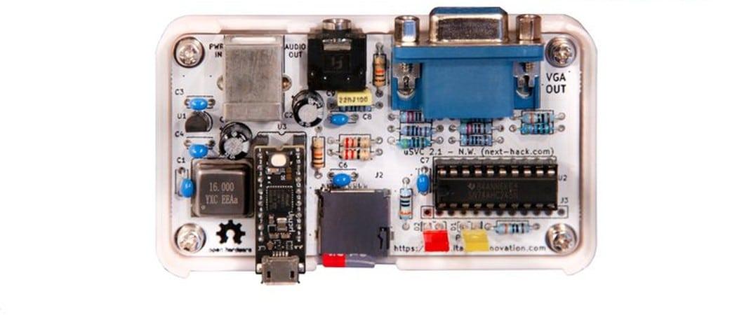 uSVC: Simple VGA-Spielkonsole für Puristen