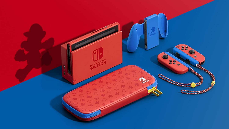 nintendo switch super mario red & blue edition