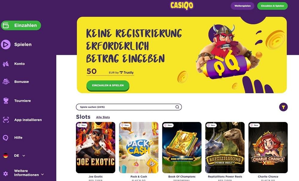 Casiqo Webseite