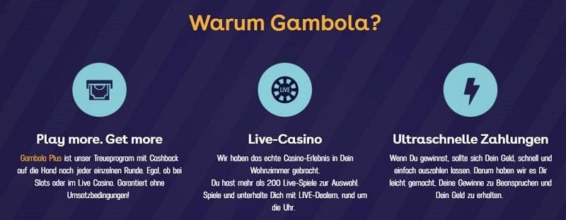 Gambola Webseite