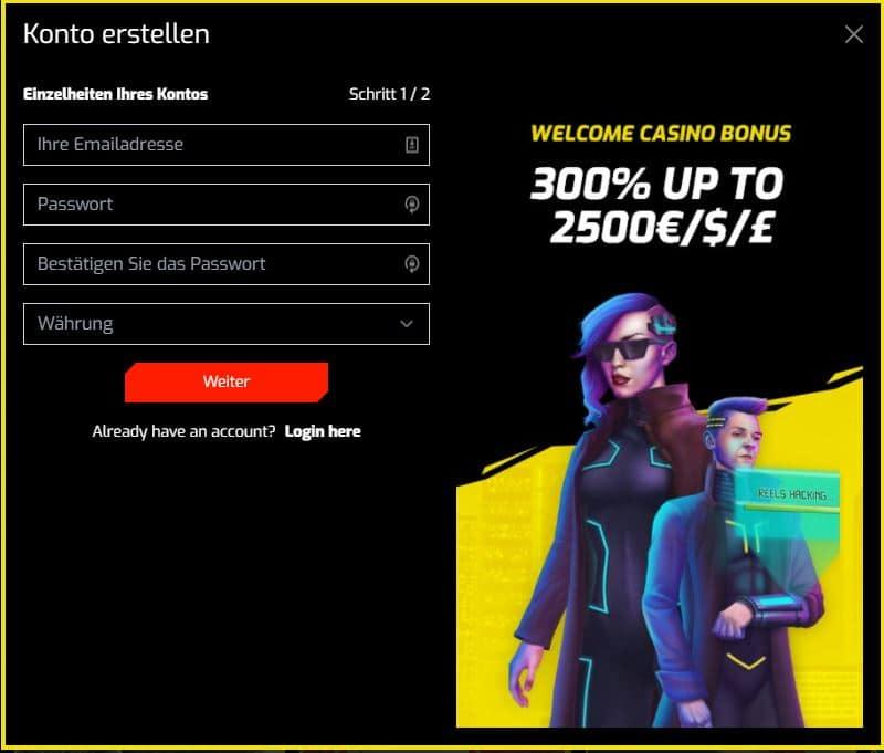 cyber 3077 casino registrierung